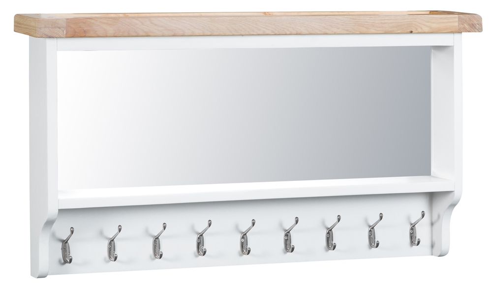 Ellen Oak and White Large Hall Bench Top
